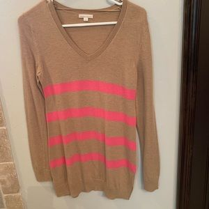 Gap maternity beige nude with pink stripes